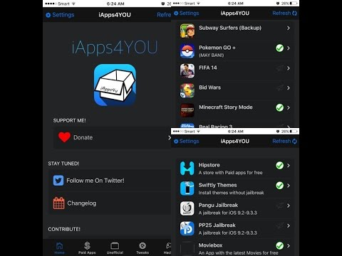 iApps4You: Get Paid Apps,tweak,Unofficial,Hacked (No jailbreak) iOS 10/9.3.5 iPhone iPad iPod