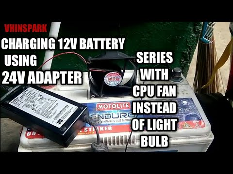 How to charge 12v battery with 24v adapter