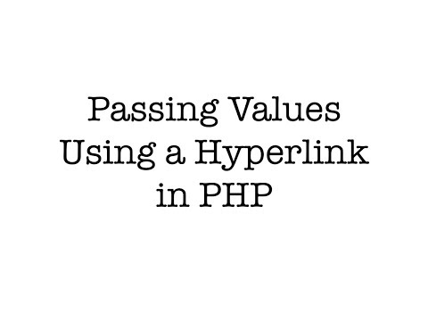Passing Values Using a Hyperlink in PHP