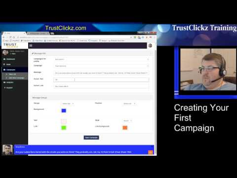 Trust Clickz Training - Creating Your First Campaign