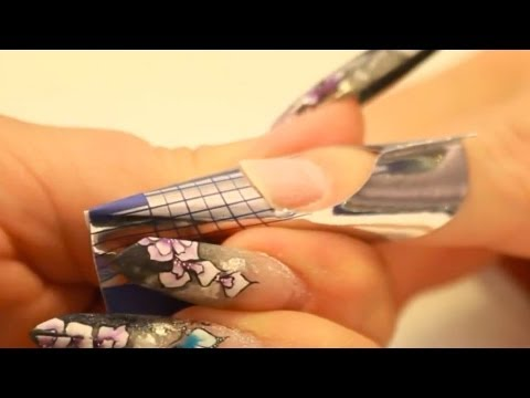 Apply nail forms: Square, Stiletto and edge shaped nails Tutorial Video by Naio Nails