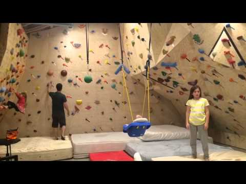 Time-lapse Climbing On Home Climbing Wall