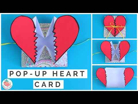 Pop Up Heart Card Tutorial - How to Make a Pop Up Heart [Break] Card Step-By-Step with Narration!