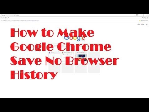 How to make Google Chrome save no Browser History