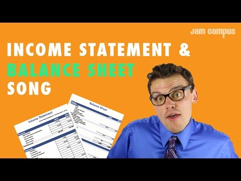 THE INCOME STATEMENT & BALANCE SHEET SONG