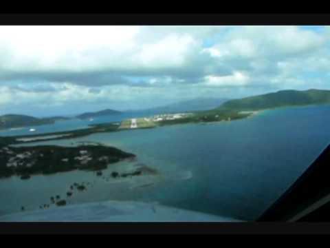 Tortola (TUPJ) Landing - Falcon 20F-5