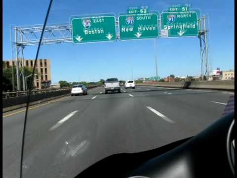 Hartford CT Interstate 84.Motorcycle Ride East