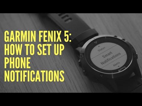 GARMIN FENIX 5: HOW TO SET UP PHONE NOTIFICATIONS