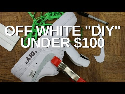 DIY: How To Make Off White Sneakers for Under $100!