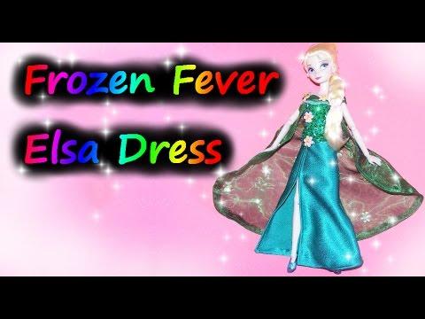 How to make Frozen Fever inspired Elsa Dress Tutorial DIY