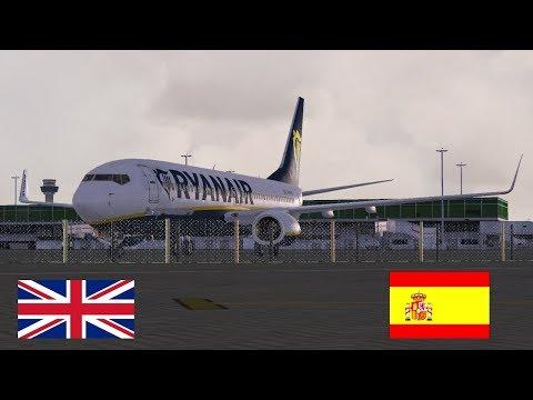 [FSX SE] LiveStream | Ryanair PMDG 737| GCRR Lanzarote to EGGD Bristol  RYR86YB  (Vatsim)