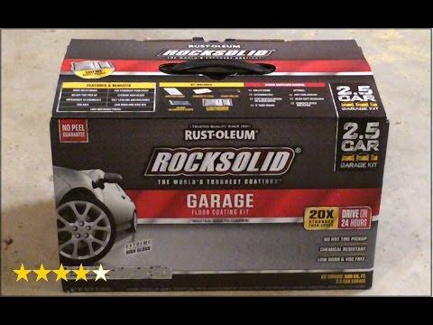 Rust-Oleum RockSolid Garage floor coating kit Review