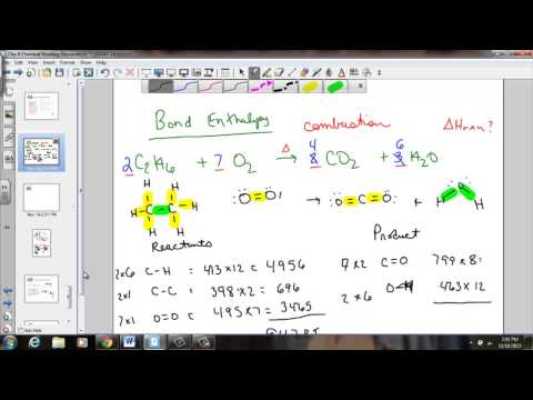 Bond Enthalpy Calculation Examples