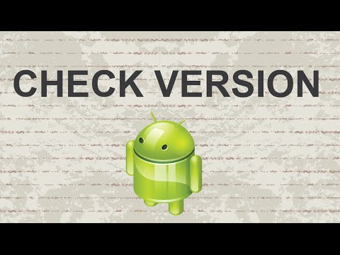 How to check Android version - 2015