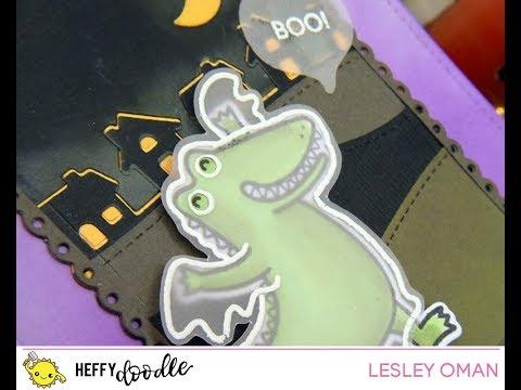 Heffy Halloween Day 4 - Ghostly Croc ft Heffy Doodle & Lawn Fawn