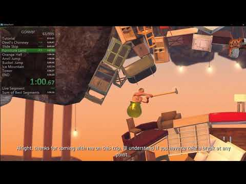 Getting Over It in 2:48 Speedrun