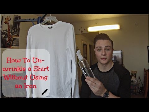 Easiest Way To Un-wrinkle a Shirt Without Using an Iron | Quick and Easy