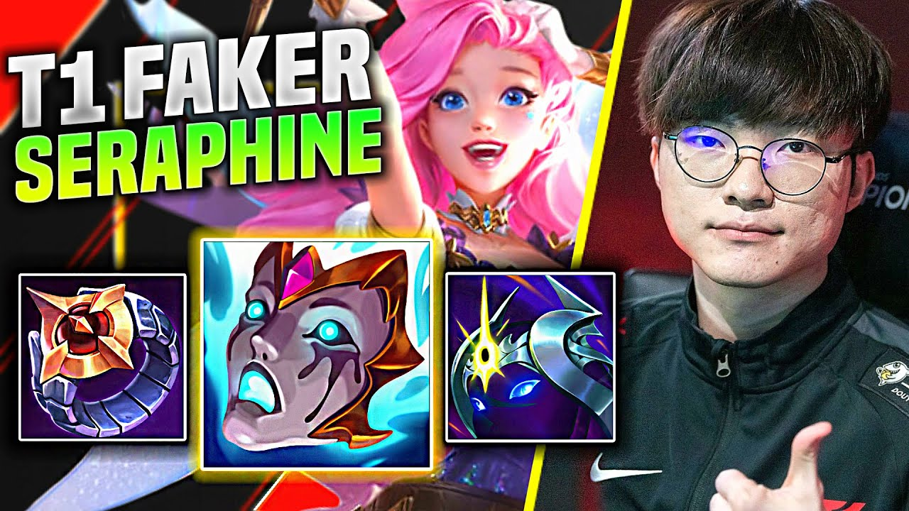 FAKER IS A BEAST WITH SERAPHINE! - T1 Faker Plays Seraphine Mid vs Sylas! | Preseason 11