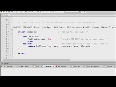 Windows Programming Using C - Installing CodeBlocks and Creating the First Project - Tutorial - 01