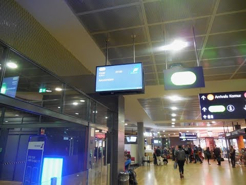A Fast Walk Around Easy to Use Keflavik Airport, Iceland