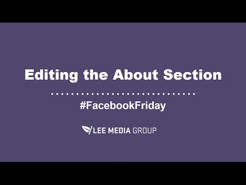 How to Edit Your Business Facebook Page's About Section