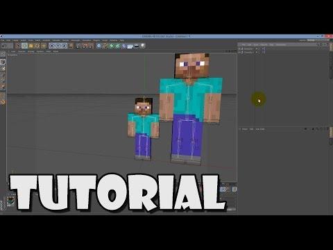 [Cinema4D Tutorial] 3. Minecraft Character Size