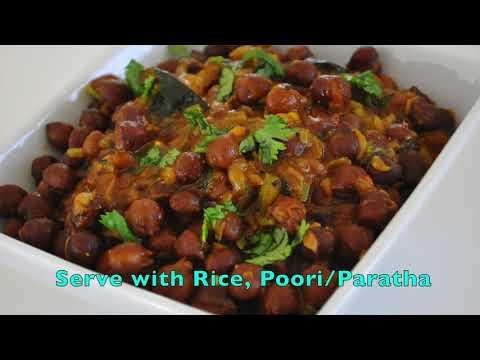 Sweet & Sour Kala/Brown Chana Masala - Chatpata Chana Masala