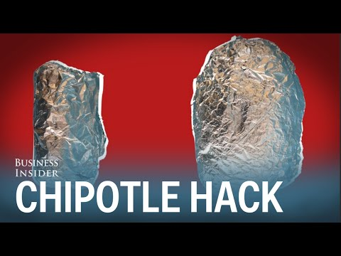 How to double the size of a Chipotle burrito for free
