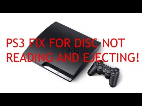 HOW TO FIX PS3 DISC NOT READING AND EJECTING NOISE (TUTORIAL)