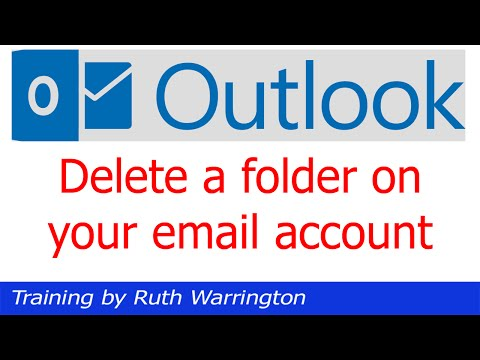 Outlook 2014 - How to delete a folder from your email account