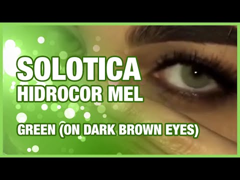 SOLOTICA HIDROCOR MEL | GREEN (ON DARK BROWN EYES)