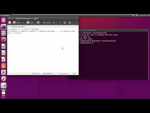 how to change hostname - ubuntu