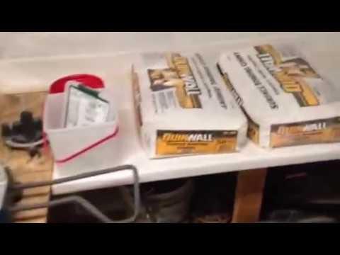 GFRC white Portland Cement Coffee Table Video 1