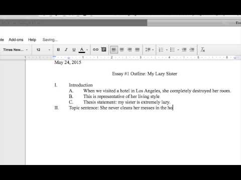 Creating an Outline in Google Docs