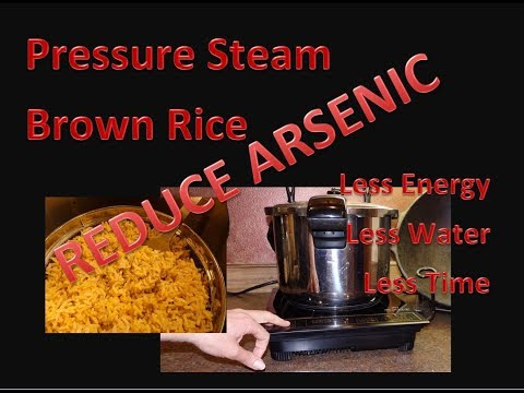 Pressure Cooking Brown Rice -- Reduce Arsenic Method