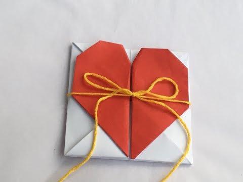 Diy Origami Heart Box / Envelope Secret Message Box Out of Paper