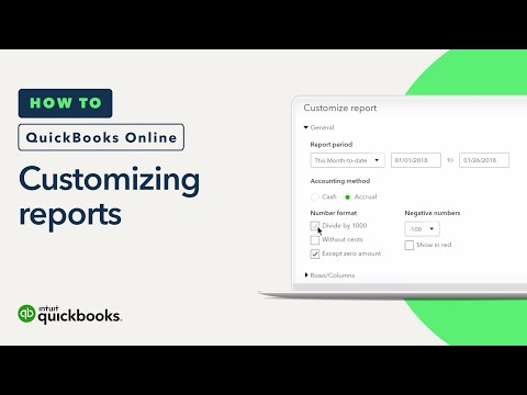 How to Customize Reports: Basics, Sorting & Date Ranges   QuickBooks Online Tutorial 2018
