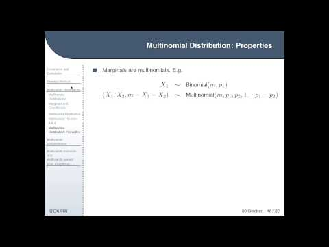 Lecture 17 - Covariance, Correlation, Multivariate Distributions