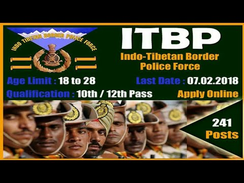 New government job ITBP HC/gd  all India candidate apply for the post..