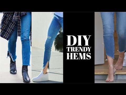 HOW TO | DIY 3 Denim Hem Trends