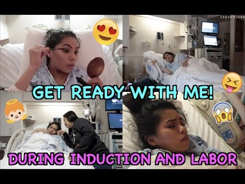 VLOG: DOING MY MAKEUP DURING LABOR !