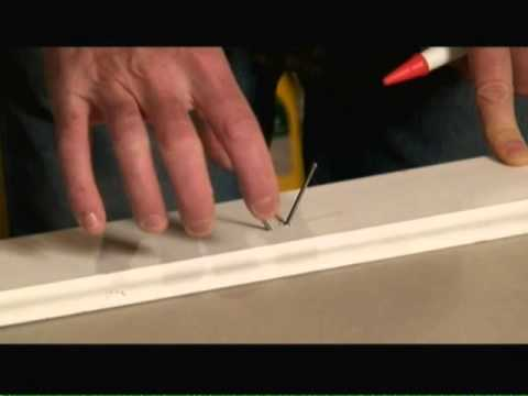 How to Fasten Trim to Drywall Attached to Metal Wall Studs Video