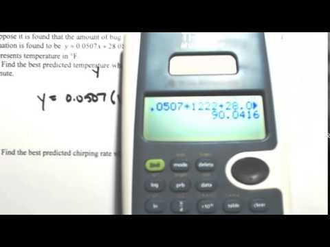 Regression Equation 1