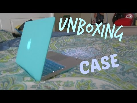unboxing case and keyboard cover for macbook air