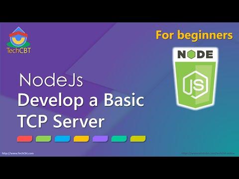 How to develop TCP Server (Network) application using NodeJs