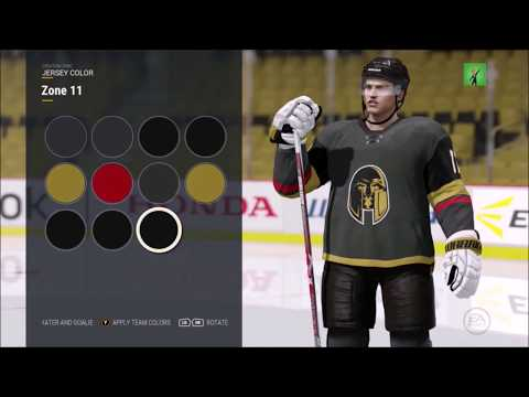 HOW TO MAKE THE LAS VEGAS GOLDEN KNIGHTS IN NHL 17!!! JERSEYS AND GAMEPLAY