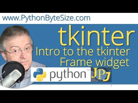 Introduction to the Python tkinter Frame widget