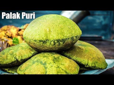 Palak Ki Puri Recipe Video | How To Make Palak Poori | Spinach Puri