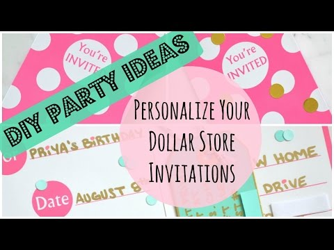 (51) DIY Party Ideas: Dollar Store Invitations