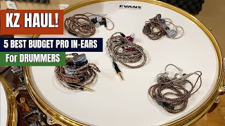 KZ HAUL! ⭐️5 Best BUDGET PRO IN-EARS For DRUMMERS 🎧⭐️